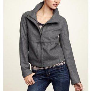 NWT GAP Grey Wool Modern Bomber Jacket